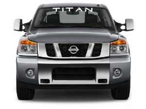 Vinyl Windshield Banner Decal Stickers Fits Nissan Titan