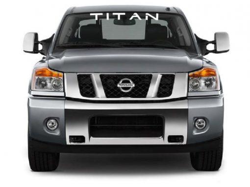 Vinyl Windshield Banner Decal Stickers Fits Nissan Titan