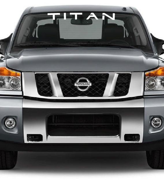 Vinyl Windshield Banner Decal Stickers Fits Nissan Titan ...