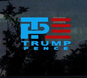 Trump Pence 2016 Window Decal Sticker