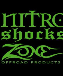 Zone Nitro Shock Vinyl Decal Stickers set of 2