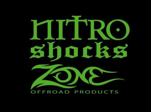 Zone Nitro Shock Vinyl Decal Stickers set of 2