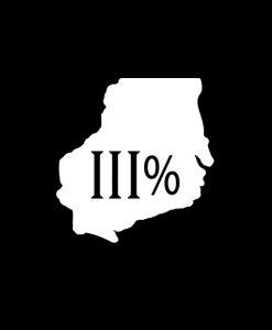 Wisconsin 3 percenter Vinyl Decal Stickers