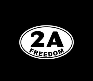 2nd Amendment Freedom Oval 2A Vinyl Decal Stickers