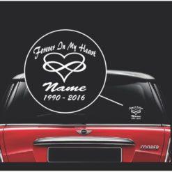 In loving memory decal sticker infinity heart
