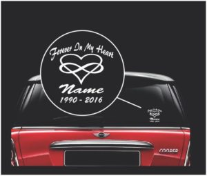 In loving memory decal sticker infinity heart