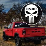 Punisher Skull USMC Military Window Decal Stickers