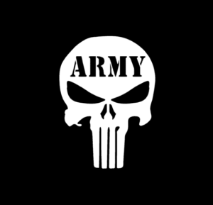 Punisher Skull Army Vinyl Decal Stickers