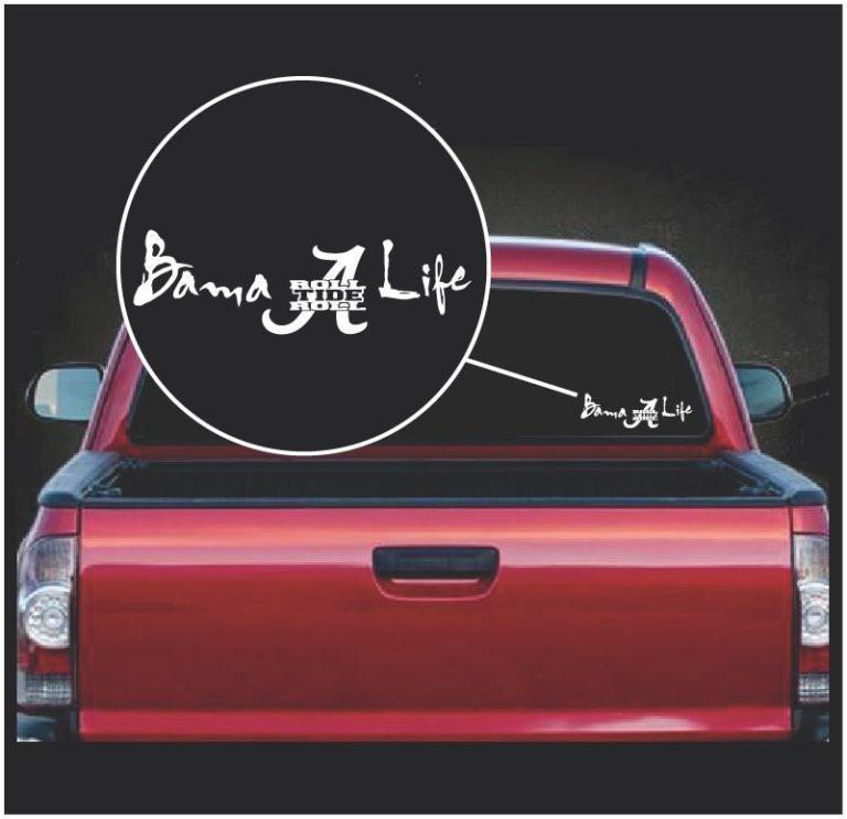 Bama Life Roll Tide Roll Alabama Window Decal Sticker