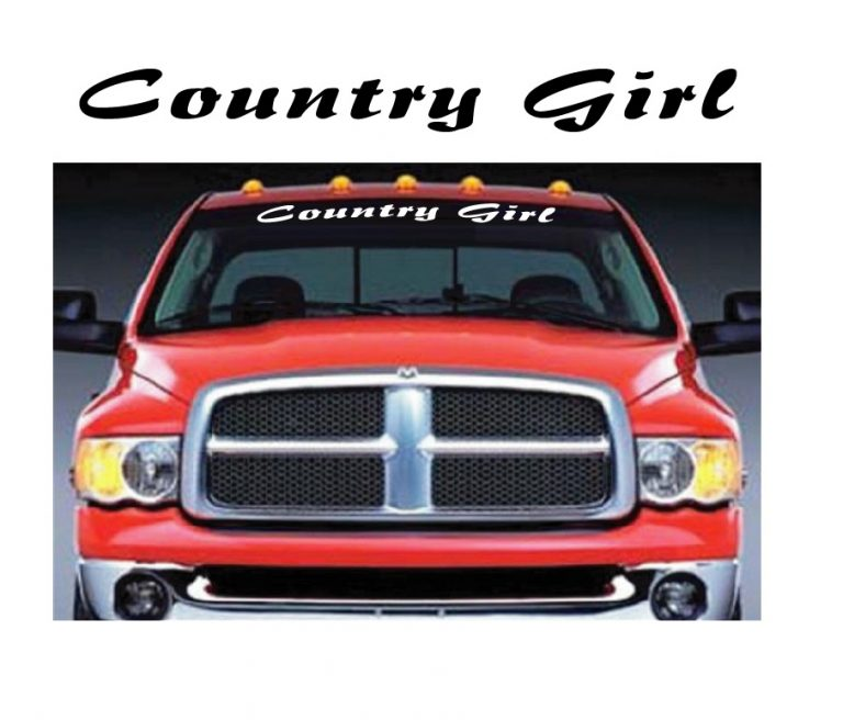 Country Girl Windshield Banner Decal Stickers
