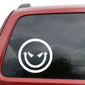 Evil Smiley Face Vinyl Decal Stickers