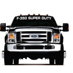 f350 super duty windshield decal sticker