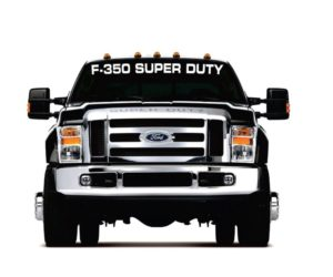 f350 super duty windshield decal sticker