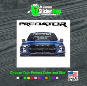 ford predator windshield banner decal sticker