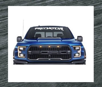 ford predator windshield banner decal sticker
