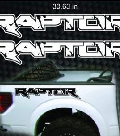ford raptor bedside decal sticker