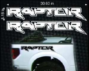 ford raptor bedside decal sticker