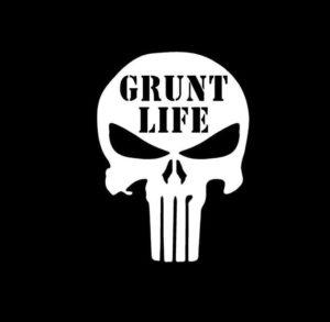 Punisher Skull Grunt Life Vinyl Decal Stickers