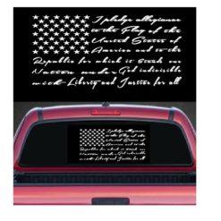 pledge of allegiance decal sticker
