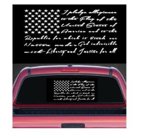 pledge of allegiance decal sticker