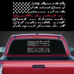 Pledge of Allegiance Fireman Decal sticker