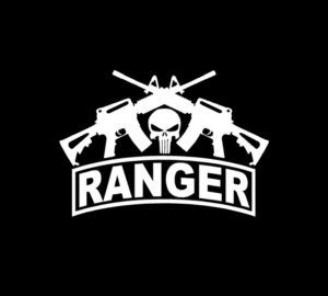Punisher Army Ranger Crossed Ar Vinyl Decal Stickers