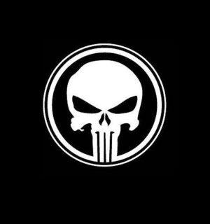 Punisher Round Vinyl Decal Stickers a2