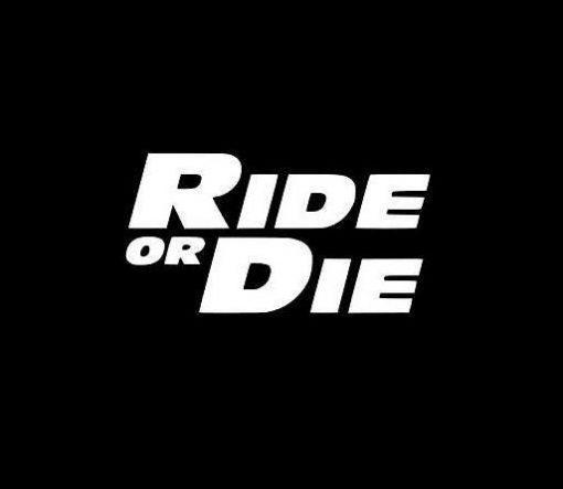 Ride or Die Paul Walker Vinyl Decal Stickers