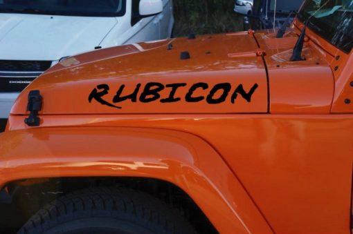 Jeep Rubicon Custom Hood Set Decal Sticker