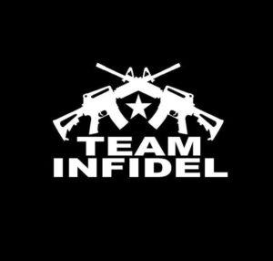 Punisher Team Infidel Crossed Ar Vinyl Decal Stickers