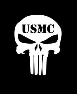 Punisher Skull USMC Vinyl Decal Stickers