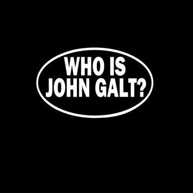 Who Is John Galt Window Decal Sticker