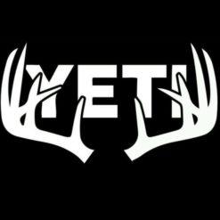 Yeti Deer Antlers Decal Stickers