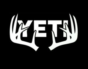 Yeti Deer Antlers Decal Stickers