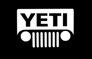Yeti Jeep Vinyl Decal Sticker