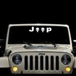 Jeep Punisher Windshield Banner Decal Sticker