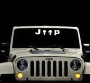 Jeep Punisher Windshield Banner Decal Sticker