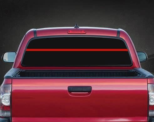 Thin Red Line Foreman Rear Window Vinyl Decal Stickers