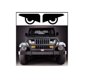 jeep yj angry headlights decal sticker