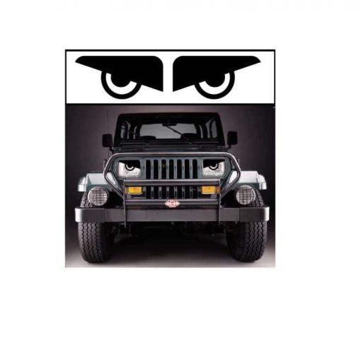 jeep yj angry headlights decal sticker
