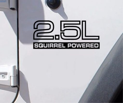 Jeep fender decal 2.5l Squirrel Powered decal set of 2