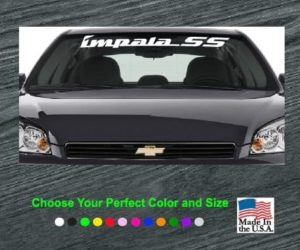 chevy impala ss windshield banner decal
