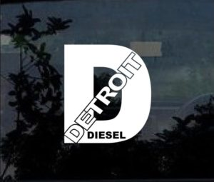 detroit diesel window decal sticker
