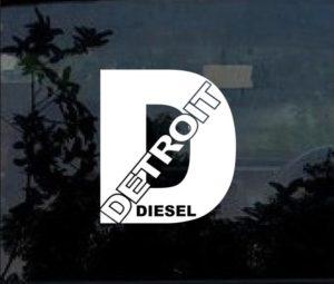detroit diesel window decal sticker