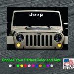 Jeep wrangler Windshield Banner Decal Sticker
