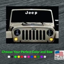 jeep windsield banner decal sticker