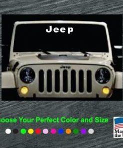 jeep windsield banner decal sticker