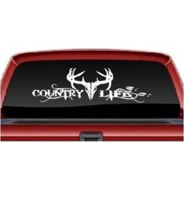 Country life buck rear Truck Decal Sticker