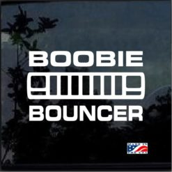 boobie bouncer xj jeep cherokee decal sticker