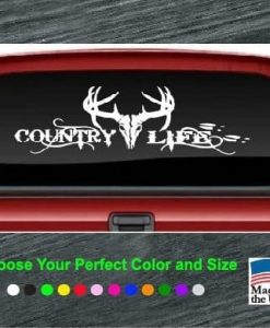 country life buck rear window decal sticker